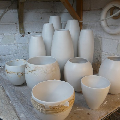 June Ridgway Fired Ceramic Pots